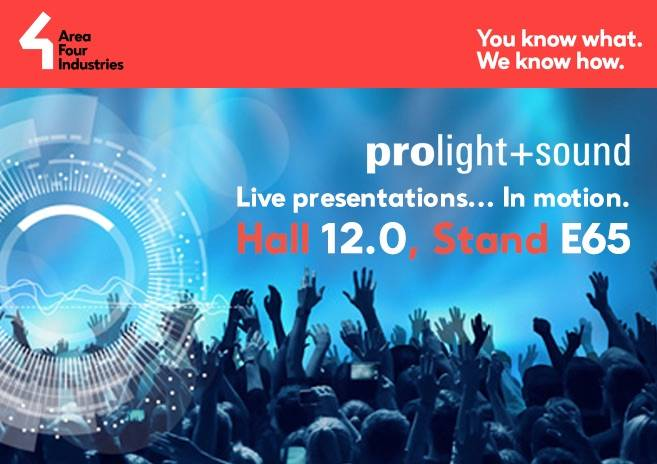Visit us at Prolight + Sound 2019